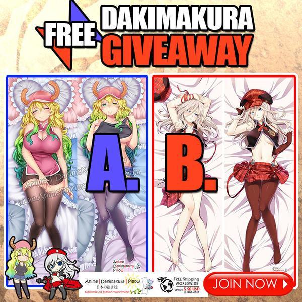 FREE Miss Kobayashi's Dragon Maid & God Eater Dakimakura Giveaway