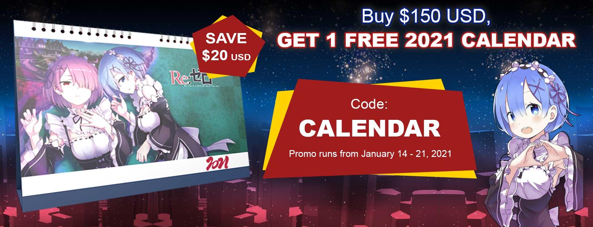 Buy $150, Get 1 Free 2021 Calendar