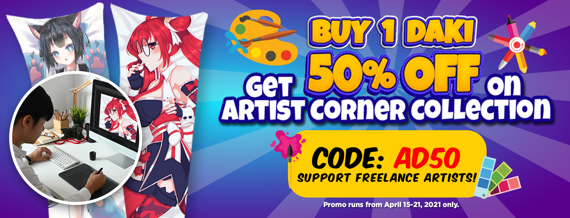 Support Our Freelance Artists! Order their works Now!