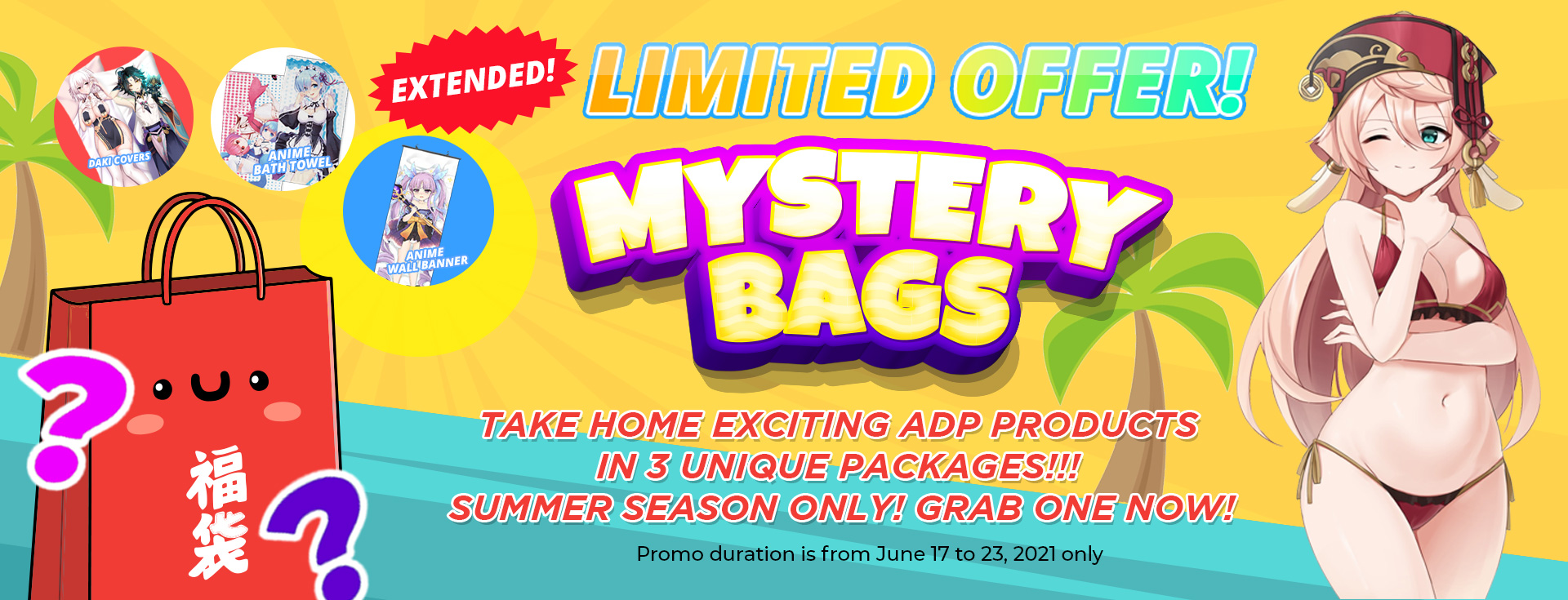 Summer Only Mystery Bags LIMITED OFFER!!