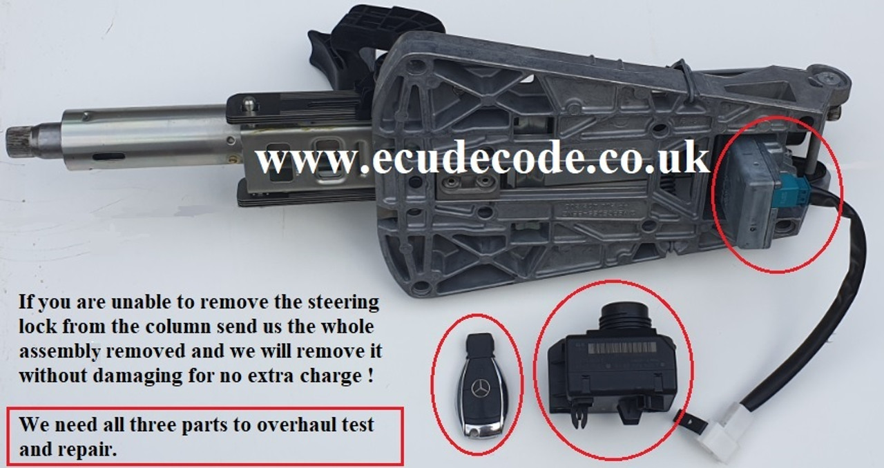 ESL removed without damage for no extra charge. Mercedes W204 W207 W212 Steering Lock Recovery, Matching , Repair & Emulator Services (W204 W207 W212 ESL Repairs)