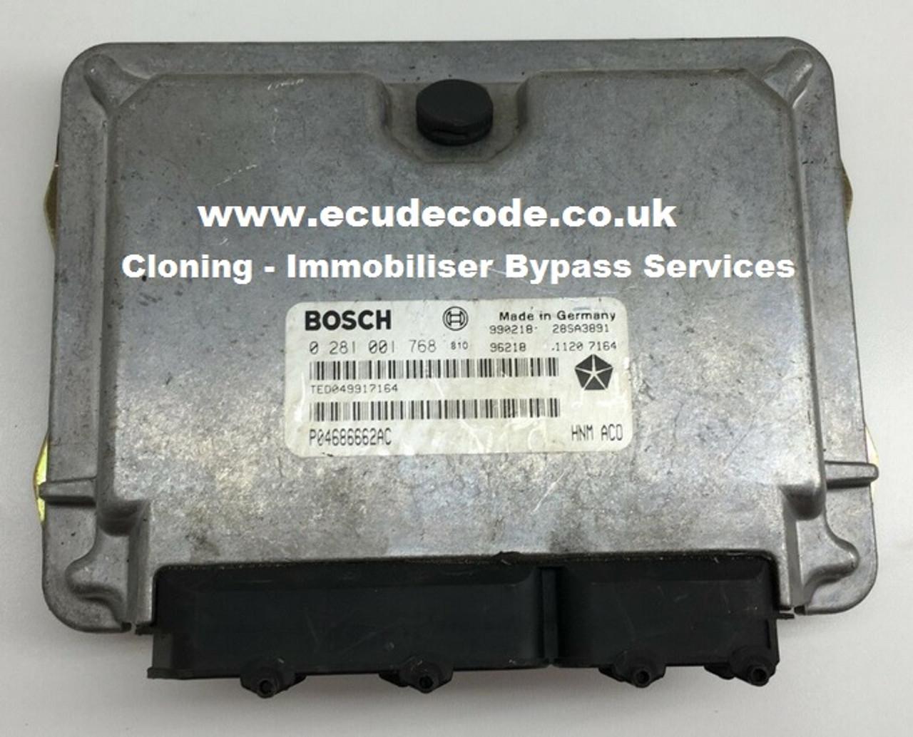 Bosch 0281001768 | Chyrsler 2 5 P04686662AC | Plug & Play UK Services