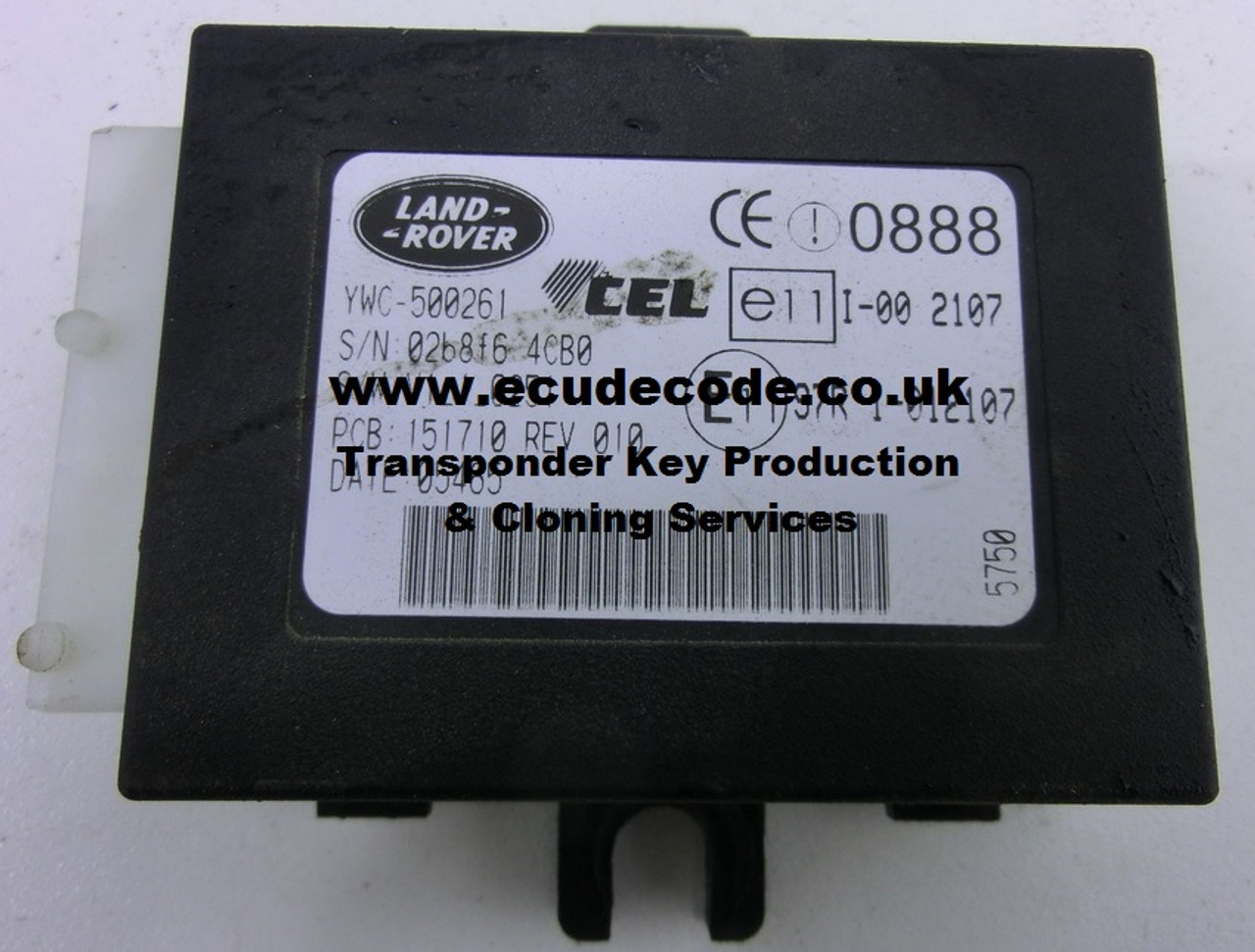 YWC500261, Immobiliser Box Cloning, Transponder Chip Production Services From ECU Decode Limited. Westbury, Wiltshire, England.