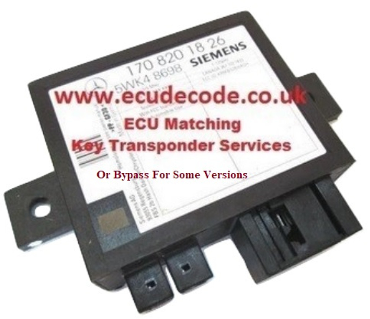 5WK48697 Bypass service for Bosch ME2.8 engine ecu variants.