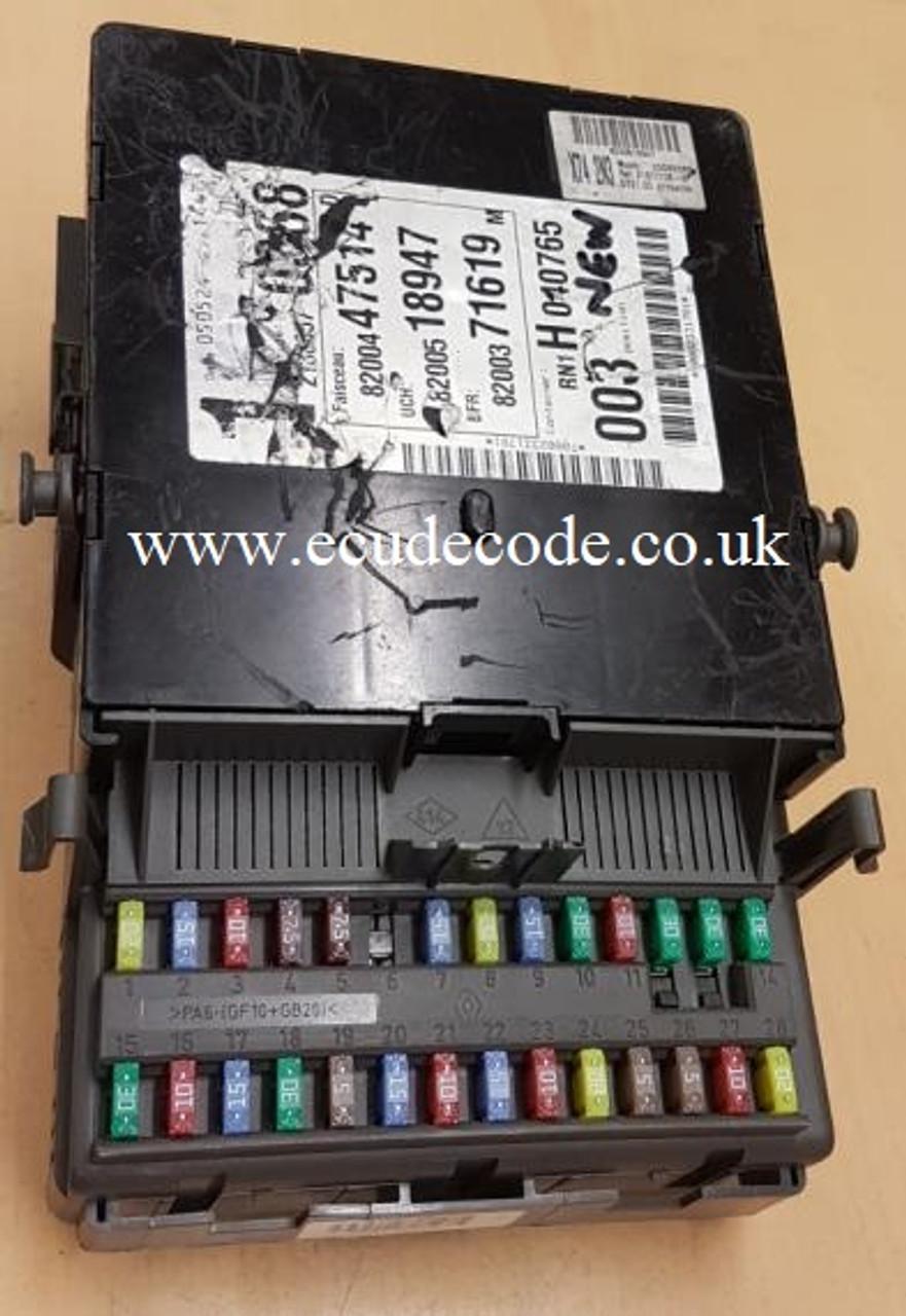8200447514 | 8200500344 | 8200371619 | X74 Renault Laguna Fuse Box Interface Module Plug & Play Service - Assembled To Fuse Box Side B