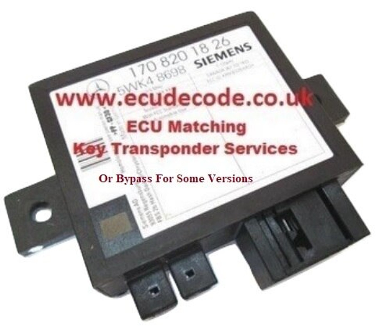 Immobiliser Bypass Versions With 1708201726 5WK48697 Siemens Immobiliser box ME2.8 & SIM4 LE From ECU Decode Limited  England