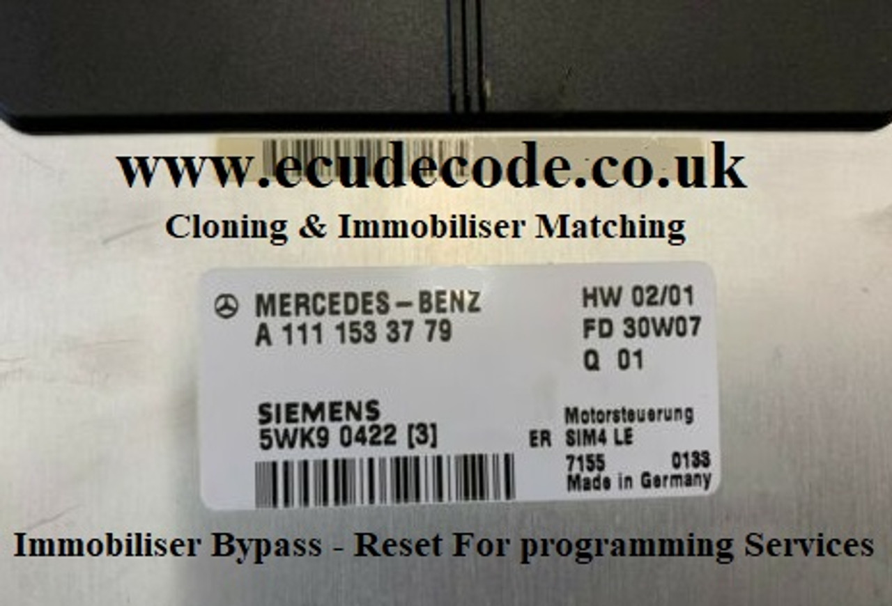 Mercedes Benz 170 SLK | A1111533779 | 5WK90422 | SIM4 LE - SIM4LE | Mercedes Start Error - Reset To New - Cloning Plug & Play - Immobiliser Bypass
