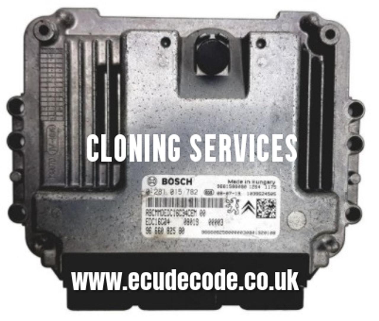 0281015782 | 0 281 015 782 | 96 664 322 80 | EDC16C34 | Peugeot Bipper / Citroen Nemo | Bosch Diesel Engine ECU For Sale with Cloning Services