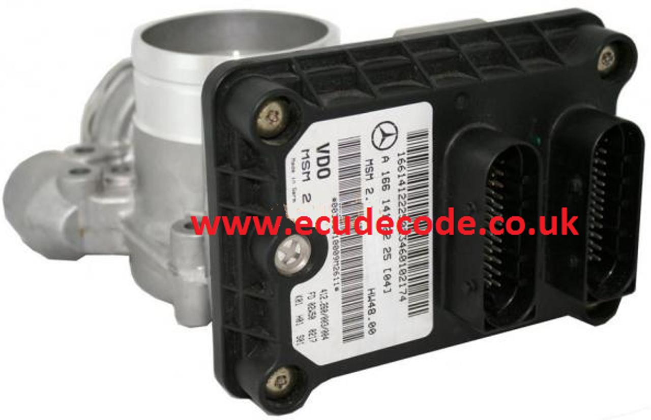 A1661412225 / 412 260/003/004 / A 166 141 22 25 / MSM2 Mercedes Petrol ECU  & Air Flow Meter Plug & Play