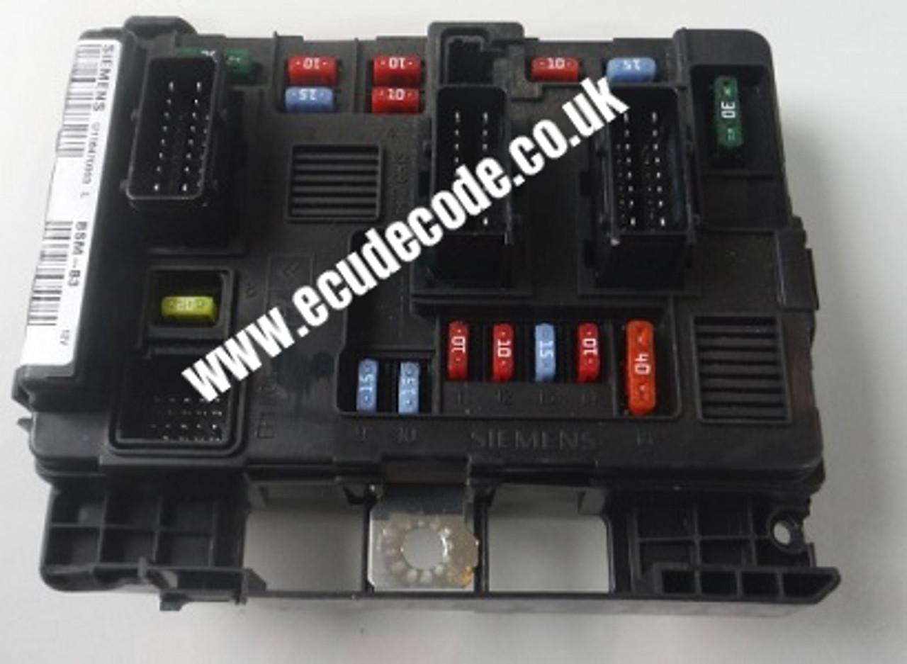 PEUGEOT CITROEN  BSM-B3 FUSE BOX MODULE 9650618480 SIEMENS