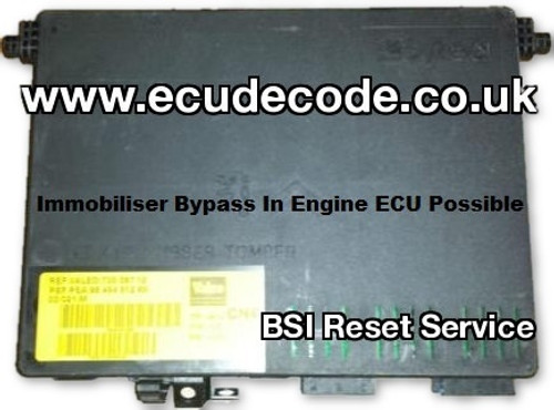 Valeo BSI 6580H4 9649491280 73008712 CN4 Clone - Decode PIN - Make Key Transponder Services