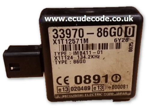 33970-86G0 X1T12571M Suzuki Immobiliser Cloned Plug & Play
