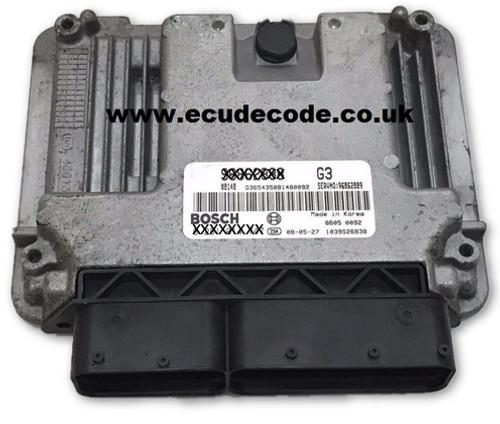 Service 0 281 015 180, 0281015180, EDC16C39-5.M8, 96879652, Chevrolet Bosch ECU Services