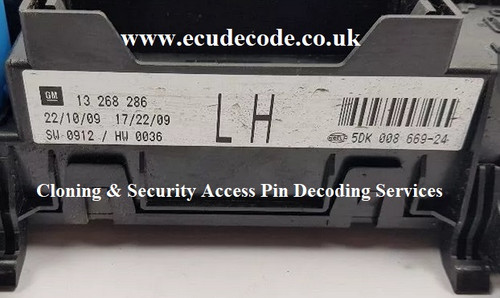 13268286 | 5DK008669-24 | LH | Hella - Cloning - Decoding PIN Services ECU Decode Westbury Wiltshire