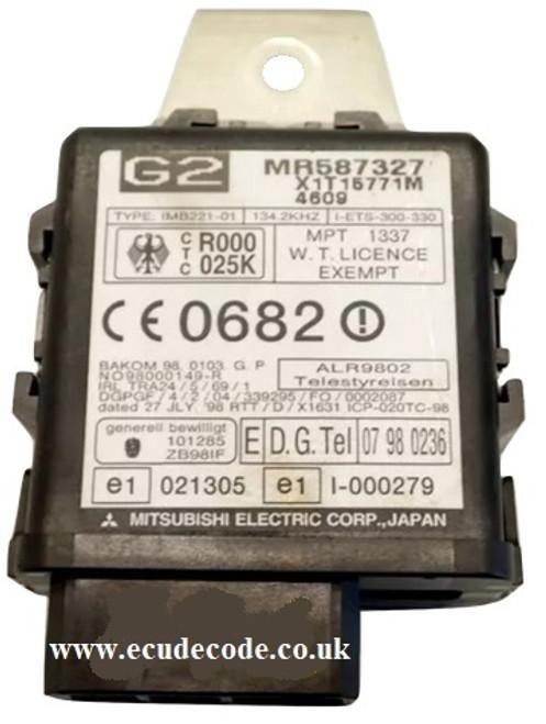 MR587327 / X1T15771M / G2 Mitsubishi Immobiliser Box - Clone - Match Immobiliser - Transponder Chip Production Services From ECU Decode