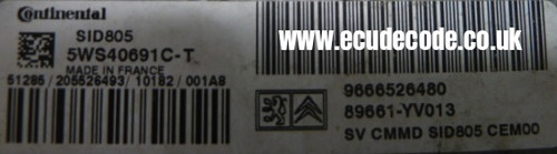 5WS40691C-T / 0666526480 / 89661-YV013 / SID805 Cloning Service