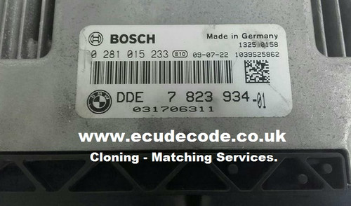 0 281 015 233 / 0281015233 / 7 810 909 / 7810909 /7 823 934 / 7823934 EDC16C35 Mini Cooper Cloning - Matching Services From ECU Decode Limited UK Specialist Company.