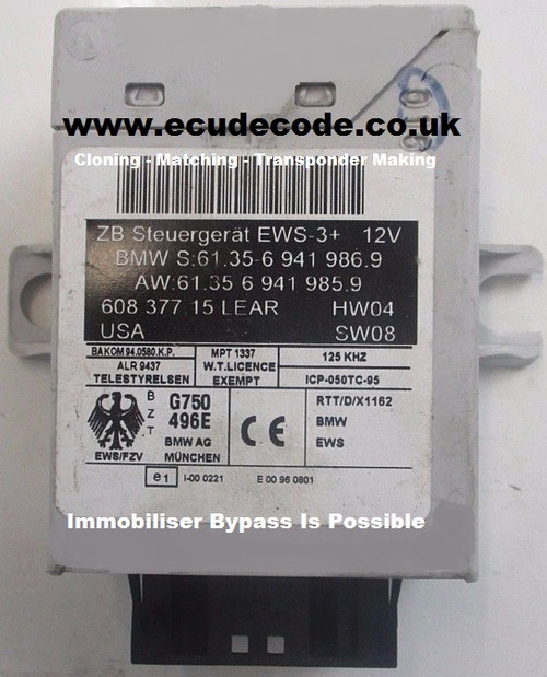 69419859 69419869 60837715 613569419869 EWS-3+ Mini Cloning - Matching - Immobiliser Bypass Services From ECU Decode UK