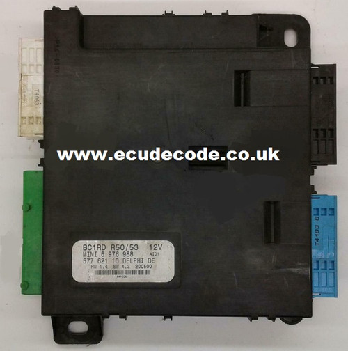 6976988 BMW Mini R50 / 52 / 53 BCM 6976988 Cloning Services From ECU Decode Limited - England