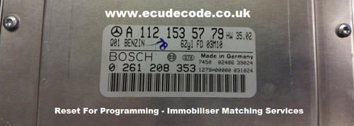 0261201163 A1121538679 ME2.8 Chrysler Crossfire Cloning - Unlocking - Immobiliser Matching Service From ECU Decode UK