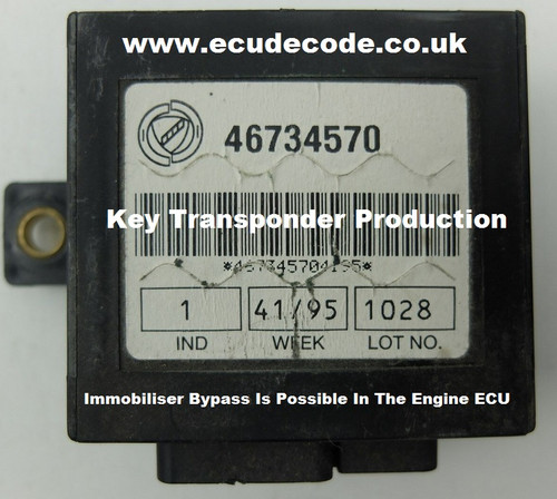 46734570 Immobiliser Key Transponder Production & Bypass Services.