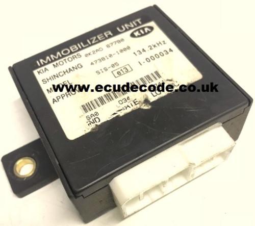 0K2A067790, 473810-1000, Kia Rio Immobiliser Box Cloning & Transponder Services