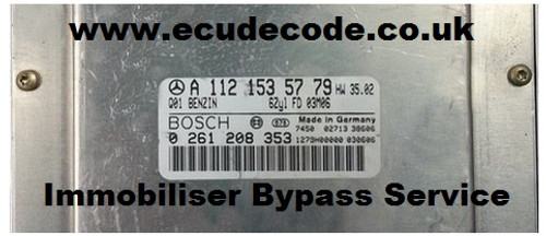 0261208353 / 0 261 208 353 / A1121535779 / ME2.8 Chrysler Crossfire Immobiliser Bypass Service From ECU Decode Limited New For 2019