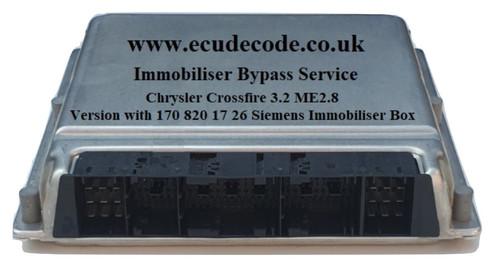 0261208425 / 0261 208 425 / A1121535379 / HW38.03 / Bosch ME2.8 Chrysler Crossfire Immobiliser Bypass Service