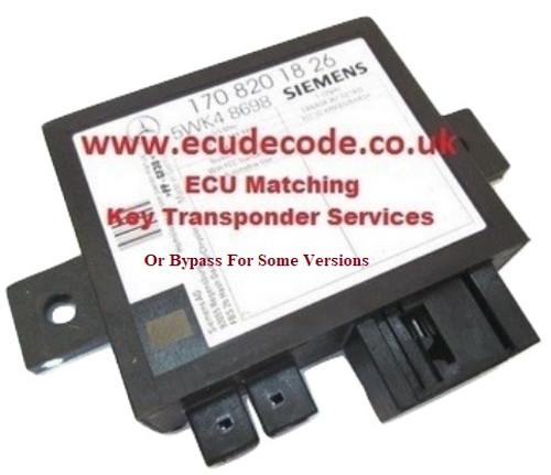 170 820 17 26 Immobiliser Box Bypass Service For SLK320
