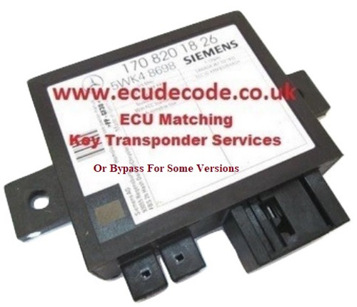 170 820 17 26 Immobiliser Box Bypass Service For SLK320