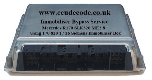 0261208067 / 0 261 208 067 / A1121533879 / 1121533879 / HW 04.02 / Bosch ME2.8 Mercedes SLK 320 Immobiliser Bypass Service