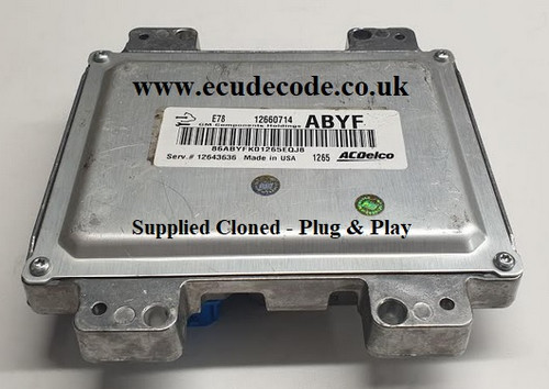 12660714 | ABYF | Serv 12643636 | E78 | Vauxhall Astra A14NET ECU Plug & Play From ECU Decode Limited England