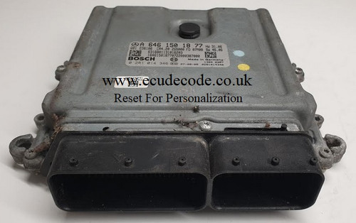 0281014346 | A6461501877 | CR4.20 | Mercedes ECU Reset For Personalization From ECU Decode Limited