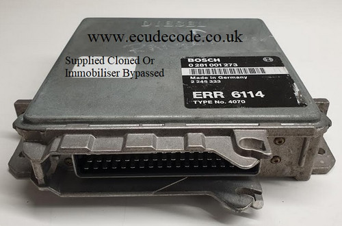 0281001273 | ERR6114 | Type 4070 Land Rover P38 2.5 Plug & Play ECU From ECU Decode England
