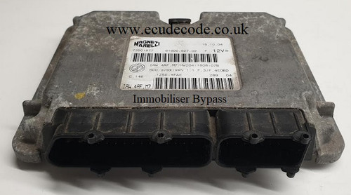 IAW4AF.M7 | 61600.627.02 | HW204 Fiat Seicento 1.1 Immobiliser Bypassed From ECU Decode UK