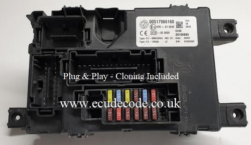 00517986169 | Fiat Grand Punto Delphi BCM - BSI Plug & Play From ECU Decode