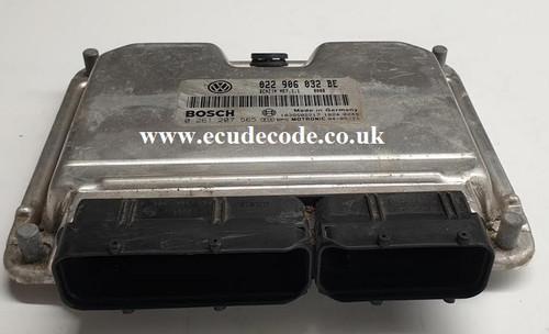 0261207565 | 022906032BE | ME7.1.1 | VW Touareg Plug & Play ECU Clone or Immobiliser Bypass From ECU Decode Westbury Wiltshire UK