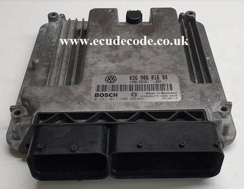 0281011906 | 03G906016BQ| EDC16U1 | VW Touran 2.0 TDI Plug & Play ECU