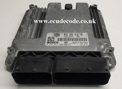 0281011900 | 03G906016CB | EDC16U1 | VW Touran - Golf 1.9 TDI Plug & Play ECU