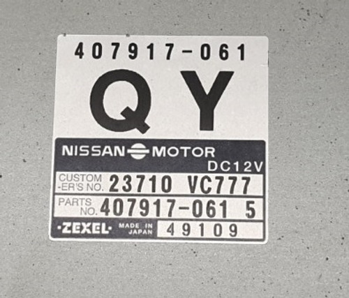 23710 VC777 | 407917-061 | 49109 | QY | Zexel Patrol 3.0 Di Immobiliser Bypass - Plug & Play Services