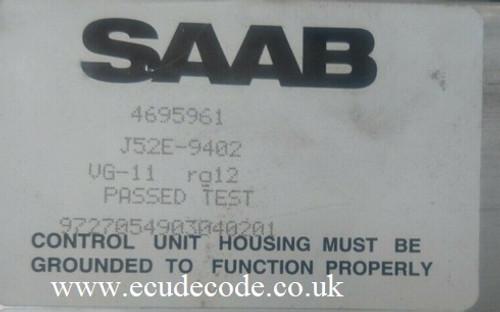 4695961 | J52E-9402 | TE-13 | Saab ASC Roof Module Cloning Service ECU Decode Westbury Wiltshire UK
