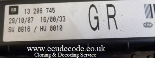 13206745 | 5DK008668-32 | GR | Astra H Under Bonnet Fuse Box Plug & Play Services From ECU Decode GB
