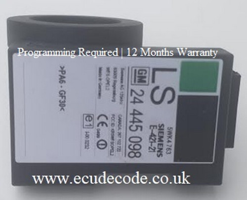24445098 | LS | 5WK4763 | 6235043GR.25.5753 | 5WK4763 Vauxhall - Opel Immobiliser Box New State For Programming - 12 Months Warranty