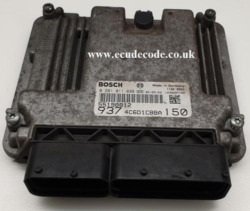 0281011896 | 55198812 | 4C6D1CBBA | Alfa Romeo Diesel Engine ECU Cloning or Unlocking included