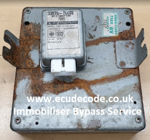 33920-71EE0 | 71EE 6V | E2T48172 | T 7217 ECU - 33970-70E02 | X1T12071M | (Suzuki Grand Vitara 1.6 16V) Immobiliser Bypass Services