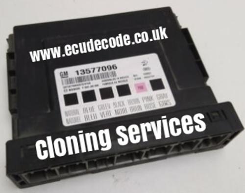 13577096 | Vauxhall / Opel | Astra J Zafira | Body Control Module | BCM | Comfort Module Cloning - Unlocking - Decoding - Communication Services