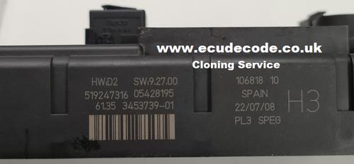 BMW Mini Body Control Module Cloning Services