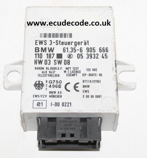61.35-6905666 /  61356905666  / HW03 / SW08  EWS3  Plug & Play From ECU Decode Limited.