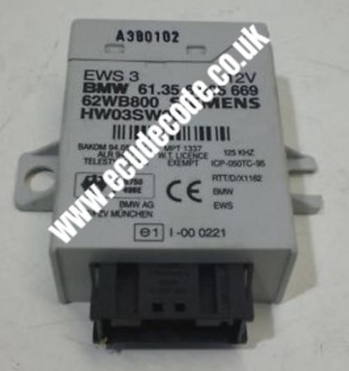 61.35-6934529  / 61356934529 /  HW04 / SW08 /  EWS3  Plug & Play From ECU Decode Limited.