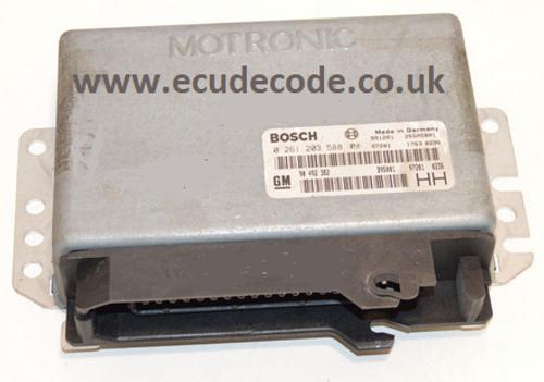 0261203588 / 0 261 203 588 / GM90492382 / GM 90 492 382 Vauxhall Omega Petrol ECU Plug & Play